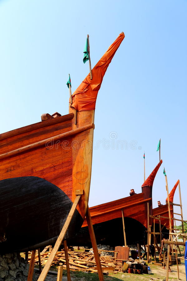 Boat with country flag royalty free stock photos