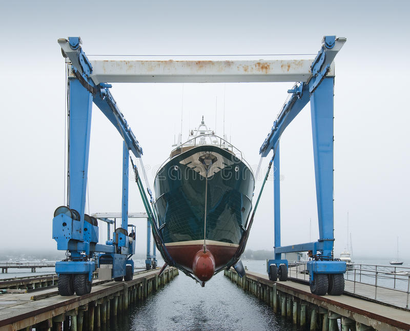 Boat crane stock photography