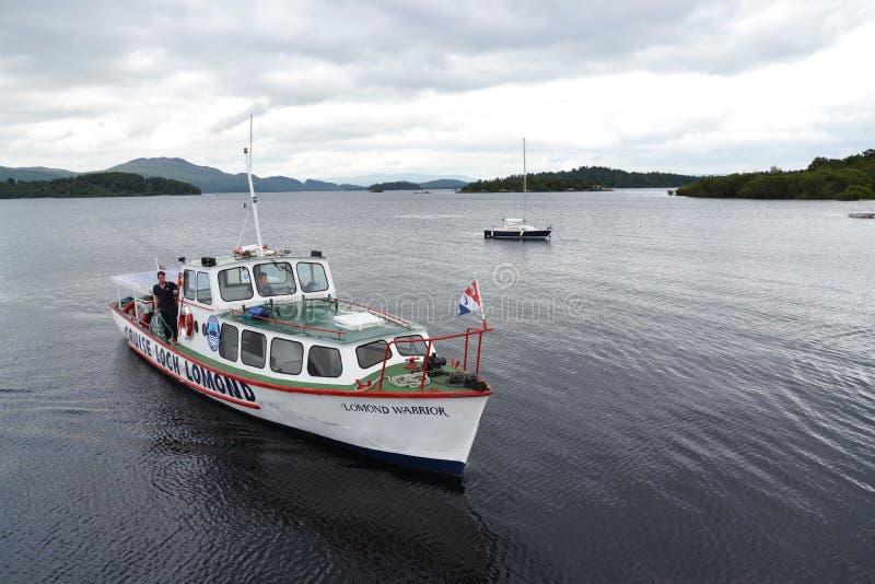 Boat cruise on Loch Lomond, Scotland, United Kingdom royalty free stock image