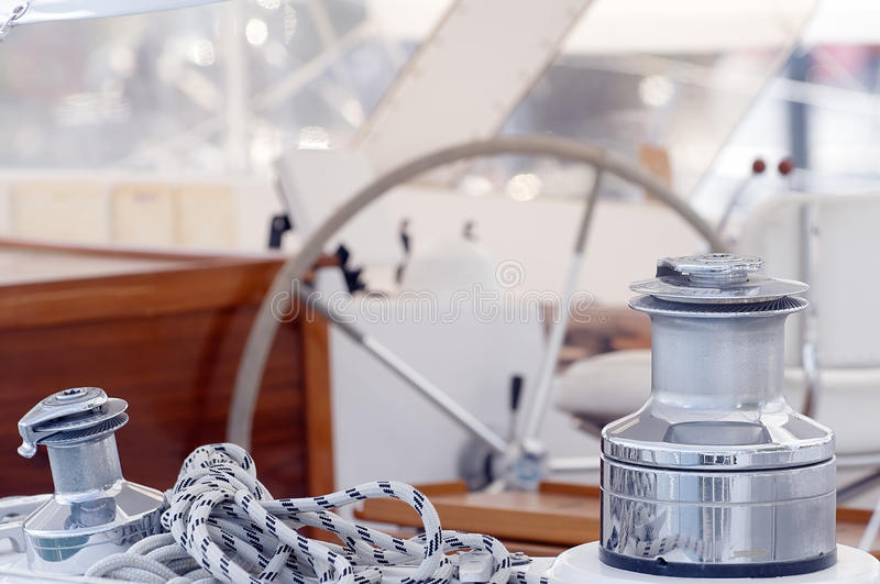 Boat deck royalty free stock photos