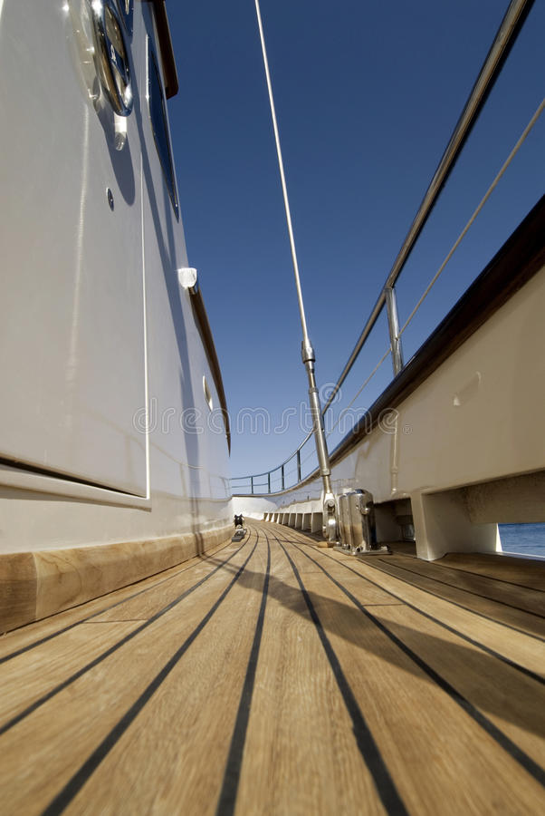 Boat Deck Royalty Free Stock Photography