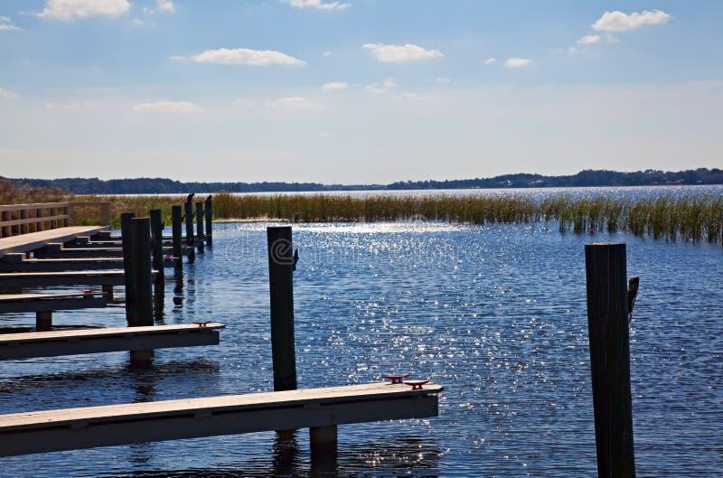 Boat Dock On Florida Lake Royalty Free Stock Photos
