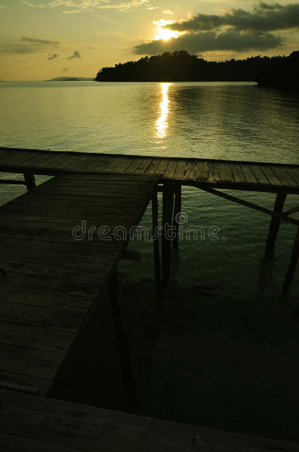 Download Boat Dock On Sunset Stock Photography - Image: 22128022