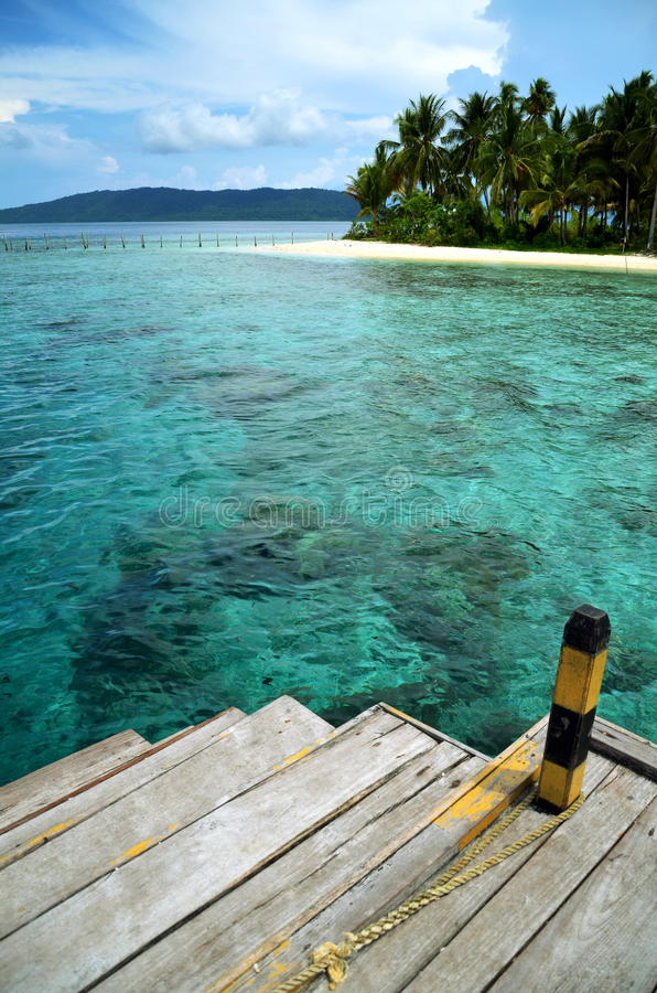 Download A Boat Dock And Tropical Beach Stock Image - Image: 22128405