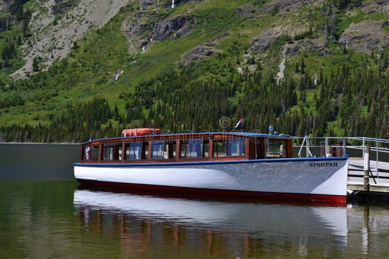 Boat docked in Lake royalty free stock photo