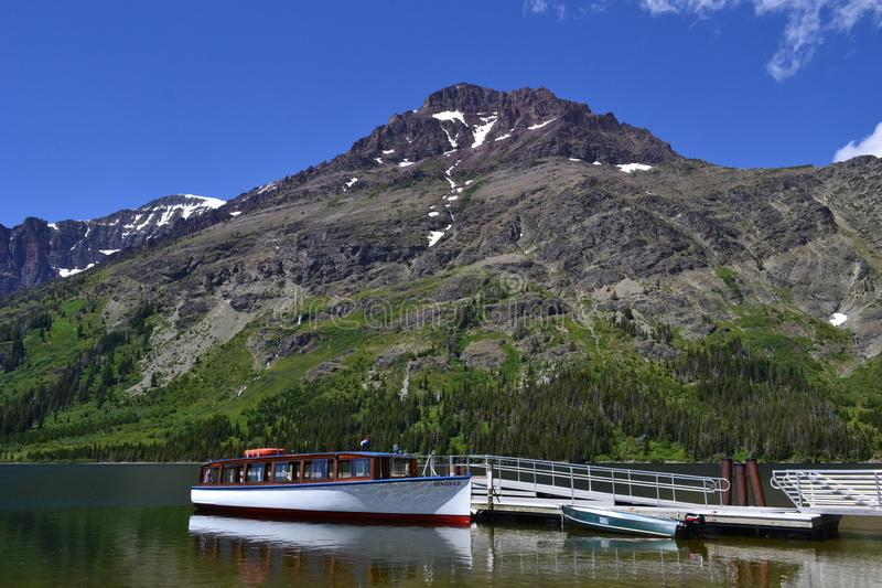 Boat docked in Lake royalty free stock image