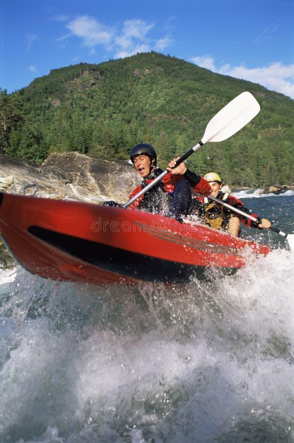 boat down inflatable paddling people rapids two στοκ φωτογραφίες με δικαίωμα ελεύθερης χρήσης