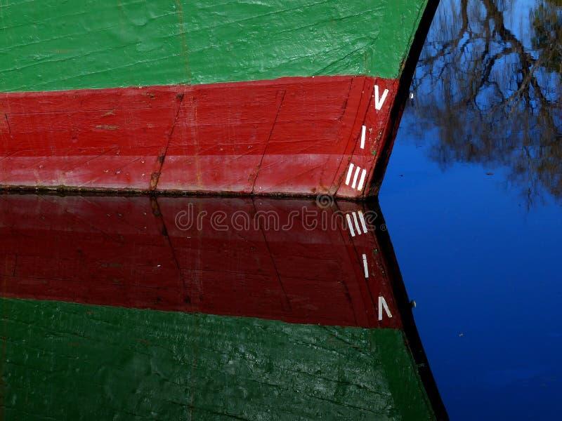 Boat draught markings. FZ200 royalty free stock photography