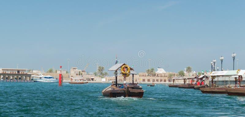 Boat on Dubai Creek royalty free stock photography