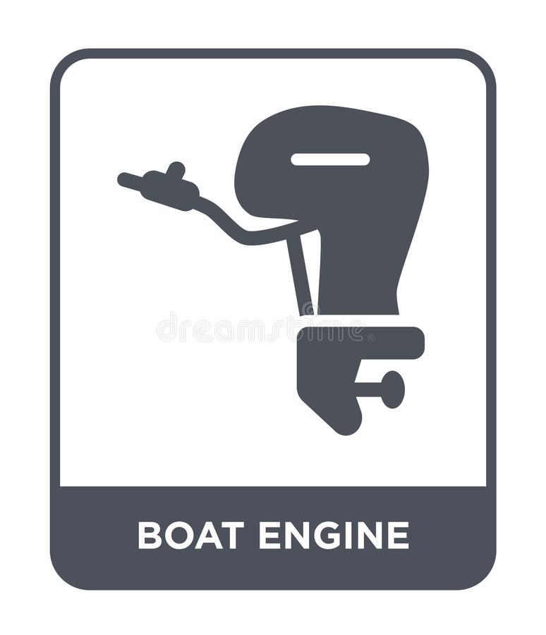 Boat engine icon in trendy design style. boat engine icon isolated on white background. boat engine vector icon simple and modern. Flat symbol for web site vector illustration