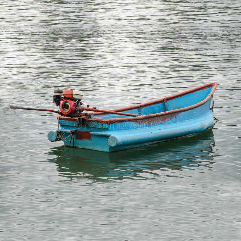Boat of fisherman stock image