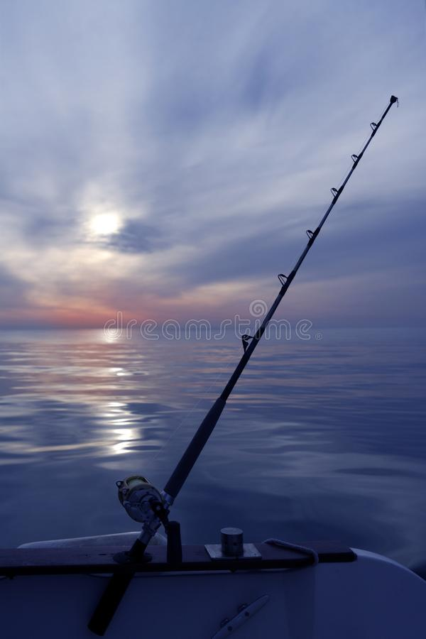 Download Boat Fishing Sunrise On Mediterranean Sea Ocean Stock Image - Image: 14552773
