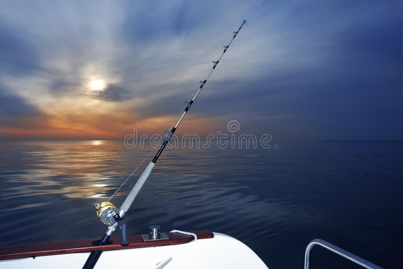 Boat Fishing Sunrise On Mediterranean Sea Ocean Royalty Free Stock Photos