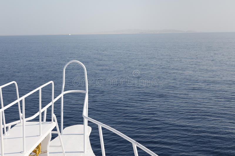 Download Boat front in flat water stock photo. Image of relax - 13446120