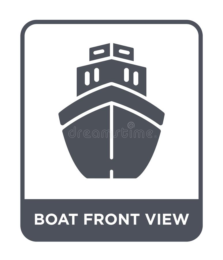 Boat front view icon in trendy design style. boat front view icon isolated on white background. boat front view vector icon simple. And modern flat symbol for vector illustration