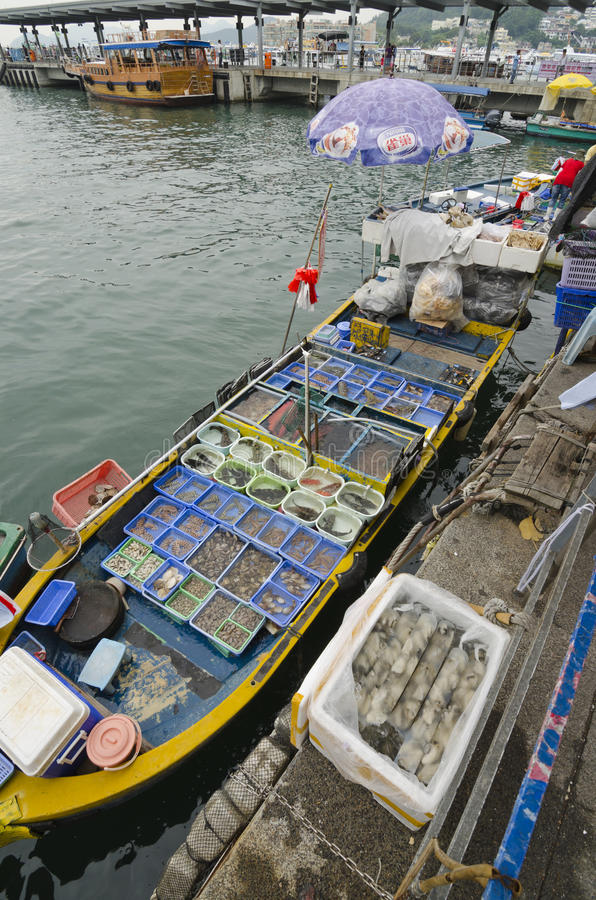 A Boat Full Of Seafood Editorial Photography
