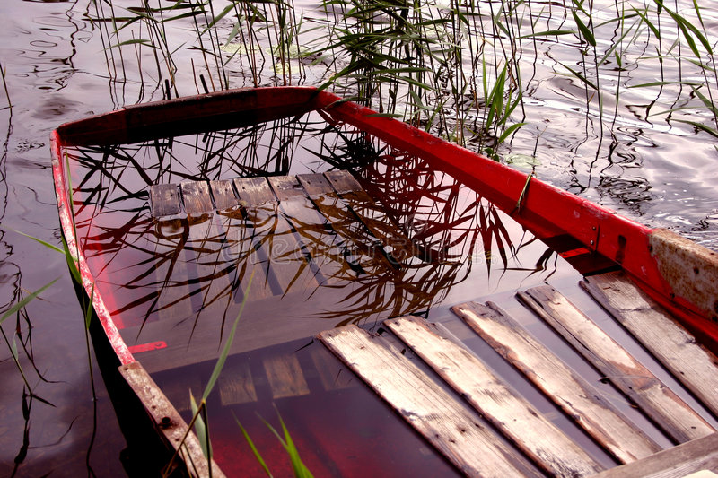 Download Boat full of water stock image. Image of season, reed, boat - 12199