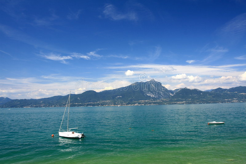 Download Boat on Garda Lake stock photo. Image of sail, water, largest - 7603930