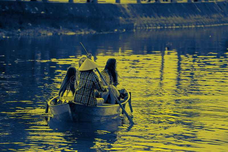 Boat girls only stock photography