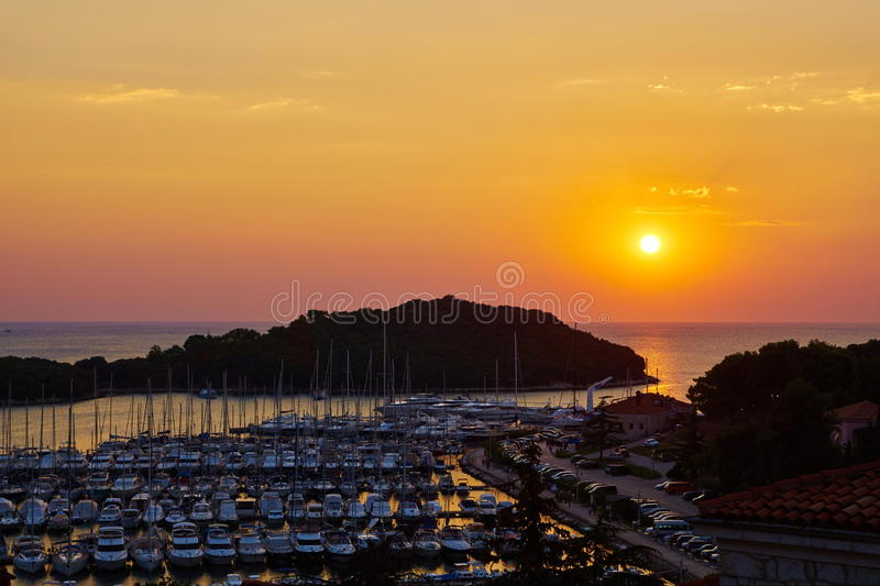 Boat harbor of Vrsar royalty free stock images