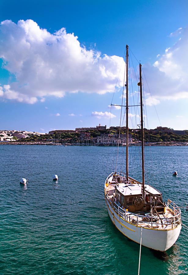 Download Boat in Harbour stock photo. Image of beautiful, port - 25904934