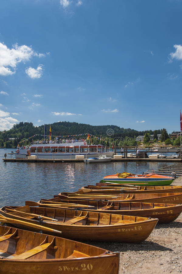 Boat hire in Titisee Neustadt. Black Forest, Baden-Wurttemberg, Germany, Europe royalty free stock images