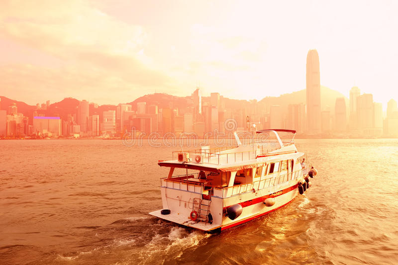 Download Boat and Hong Kong stock photo. Image of modern, landscape - 26317704