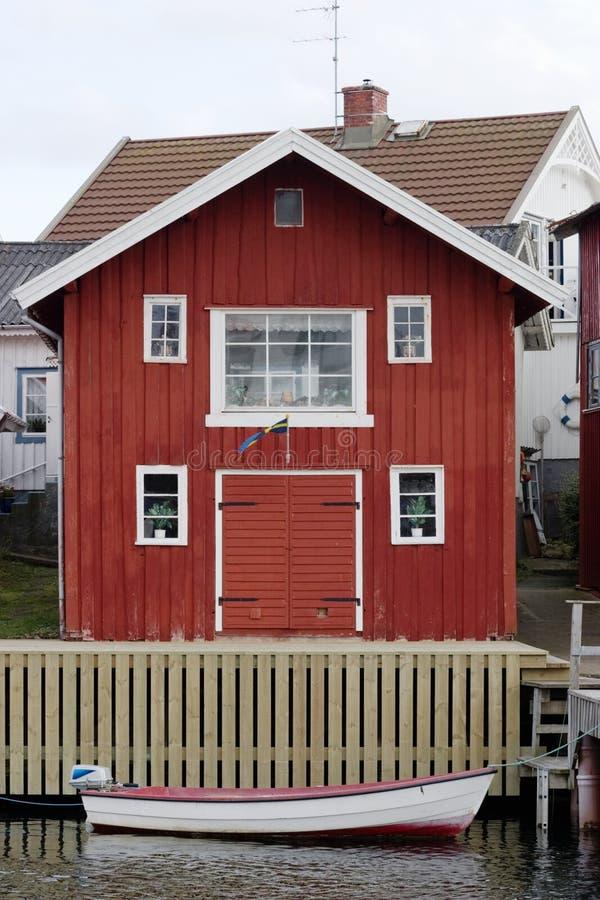 Boat house stock photo