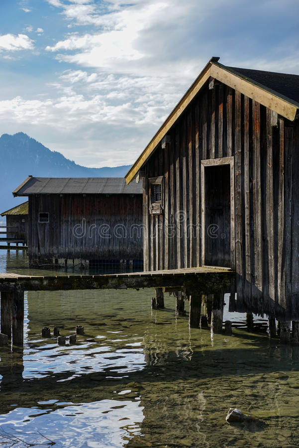 Download Boat House On Bavarian Lake Stock Image - Image: 37915723