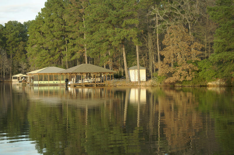 Boat House on the Lake royalty free stock photo