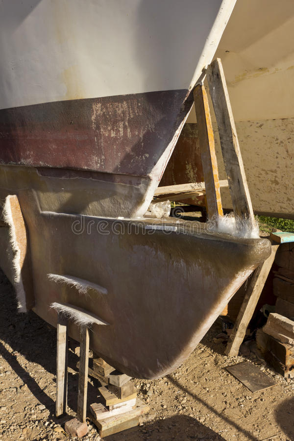 Download Boat hull being repaired stock photo. Image of boat, outdoors - 32555448