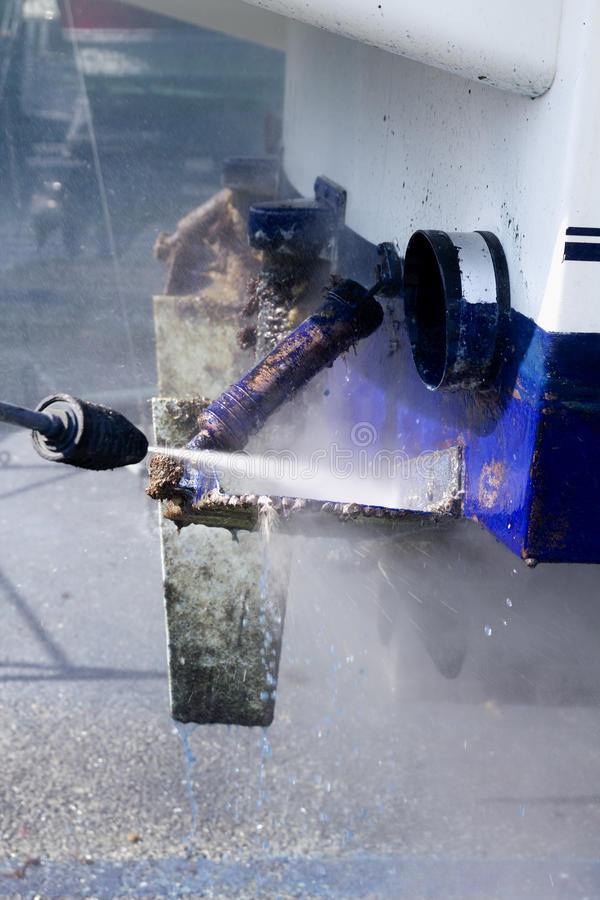 Download Boat Hull Cleaning Water Pressure Washer Stock Image - Image: 19659741