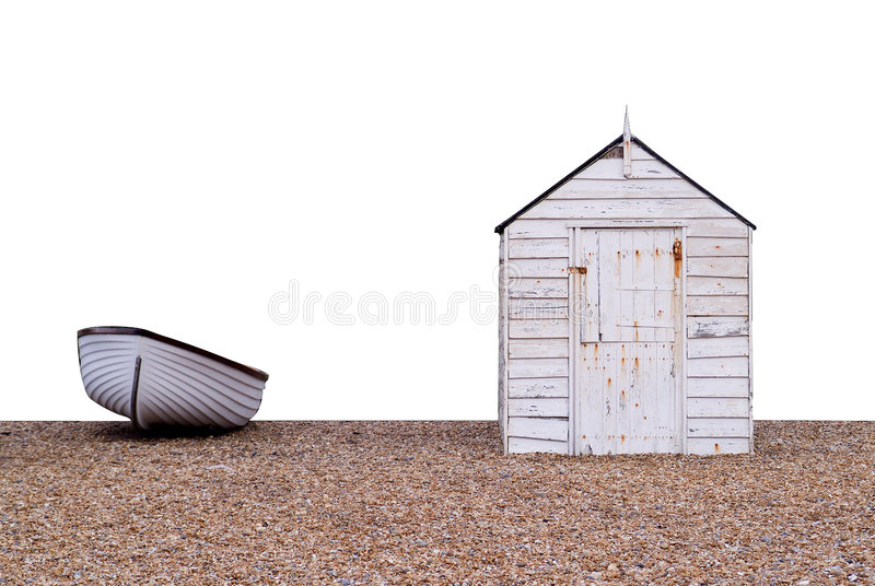 Boat and hut stock photography