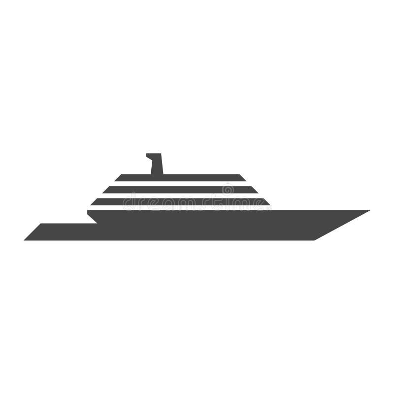 Boat Icon Flat Graphic Design - Illustration. Icon royalty free illustration