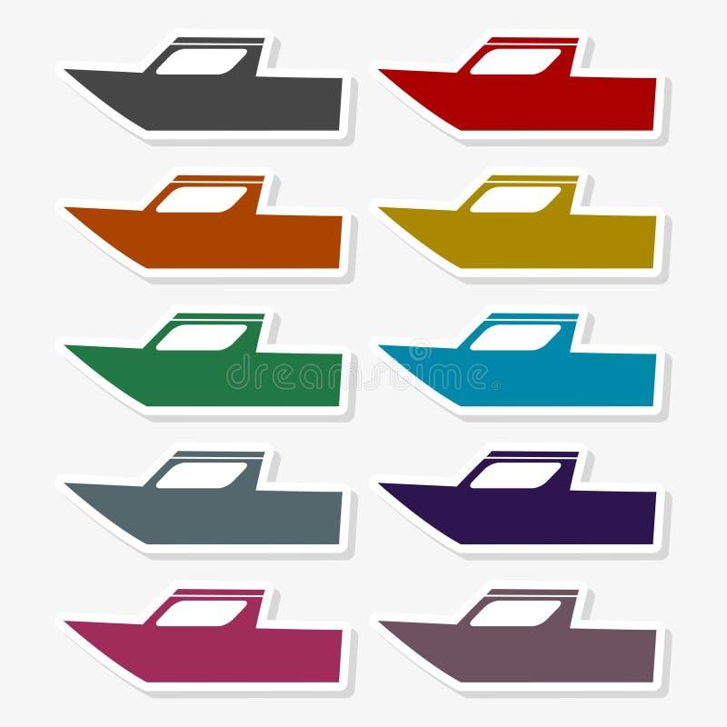 Boat Icon Flat Graphic Design - Illustration. Vector icon set vector illustration