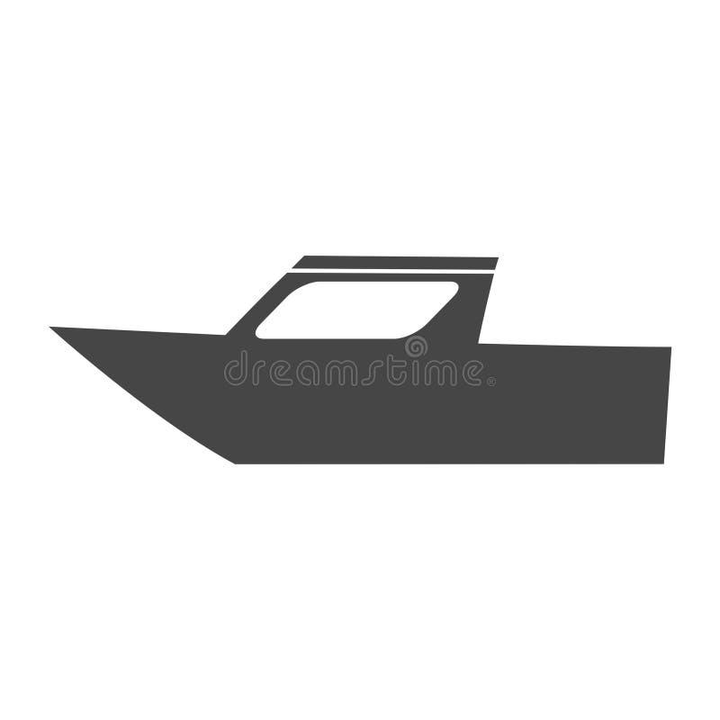 Boat Icon Flat Graphic Design - Illustration. Vector icon stock illustration