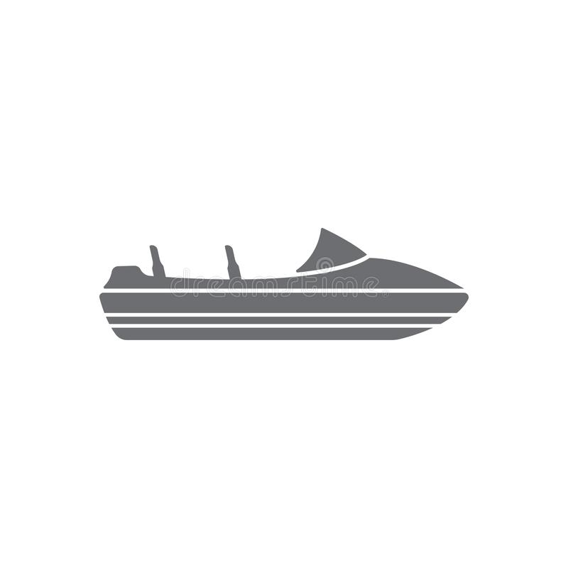 Boat icon. Simple element illustration. Boat symbol design from Transport collection set. Can be used for web and mobile. On white background vector illustration