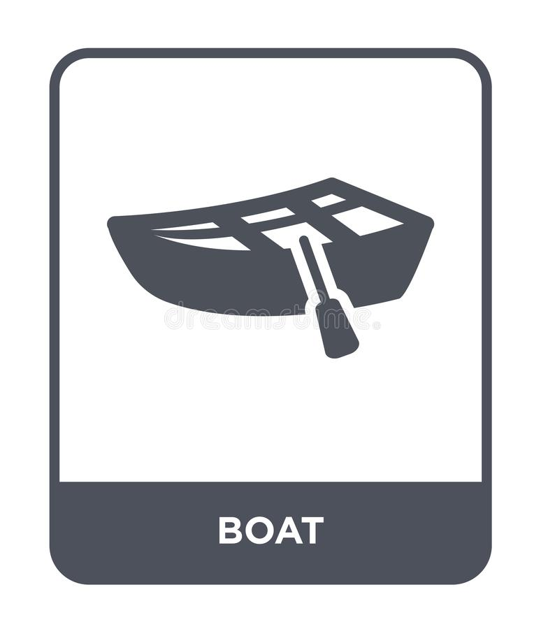 Boat icon in trendy design style. boat icon isolated on white background. boat vector icon simple and modern flat symbol for web. Site, mobile, logo, app, UI royalty free illustration