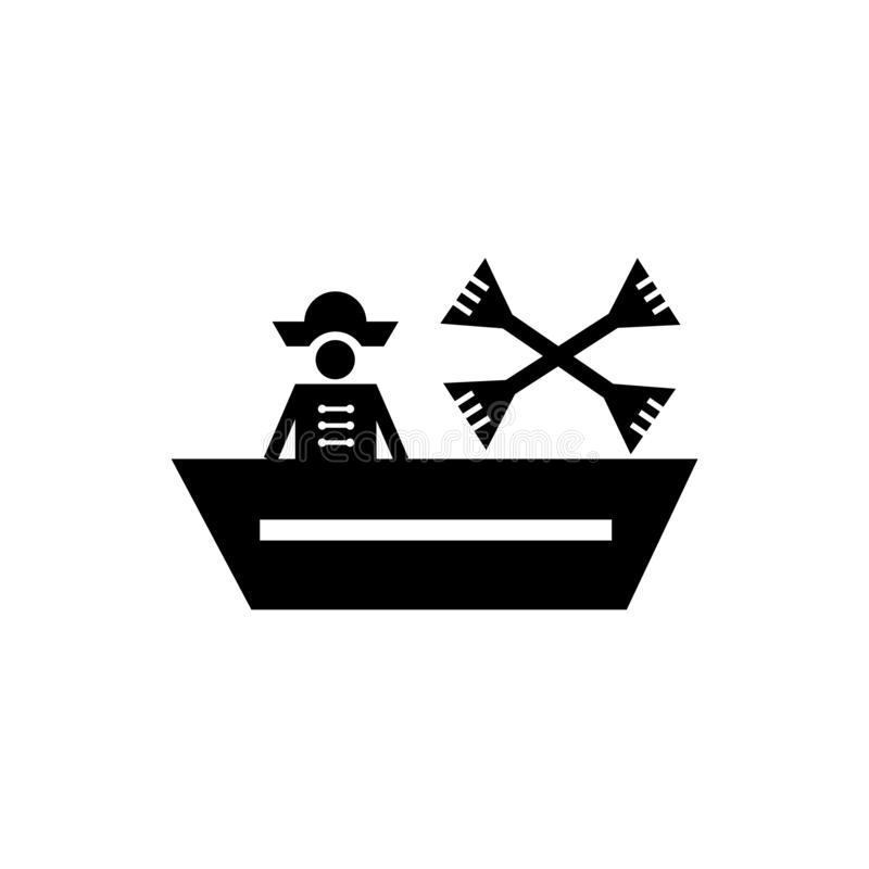 Boat icon vector sign and symbol isolated on white background, Boat logo concept. Boat icon vector isolated on white background for your web and mobile app royalty free illustration