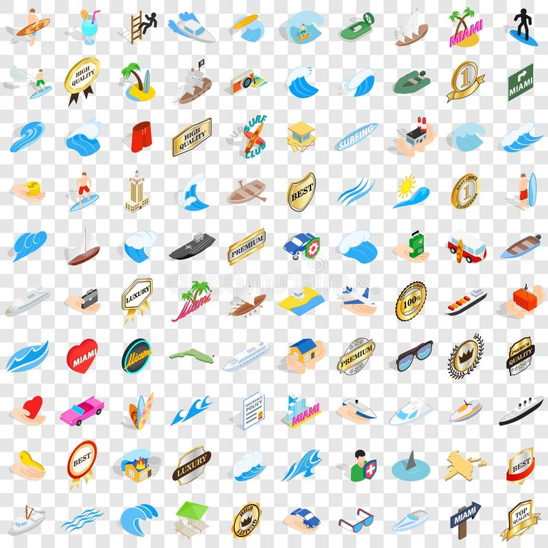 100 boat icons set, isometric 3d style. 100 boat icons set in isometric 3d style for any design vector illustration stock illustration