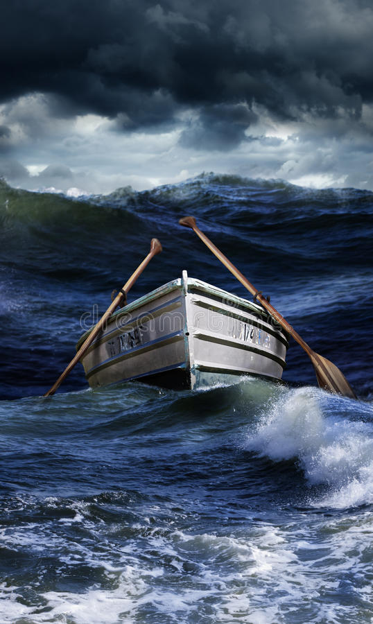 Free Boat In Rough Seas Royalty Free Stock Photography - 34710567