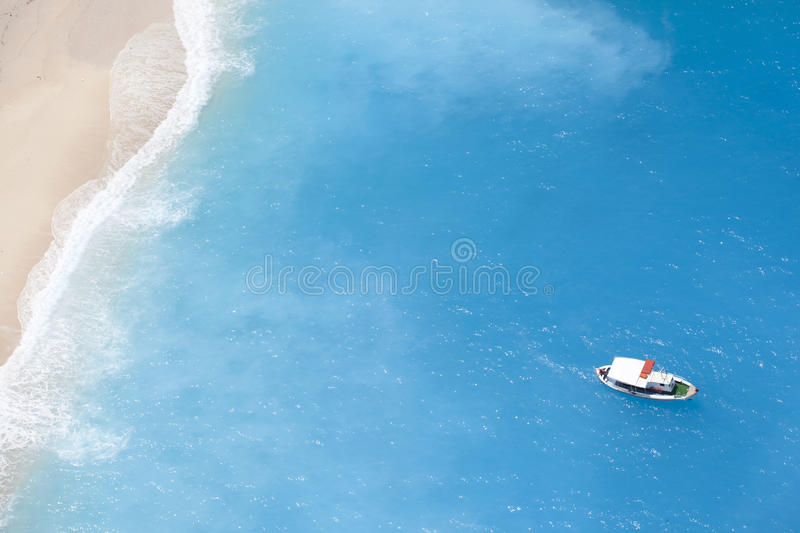 Download Boat on the ionic sea stock image. Image of holiday, beach - 26491825