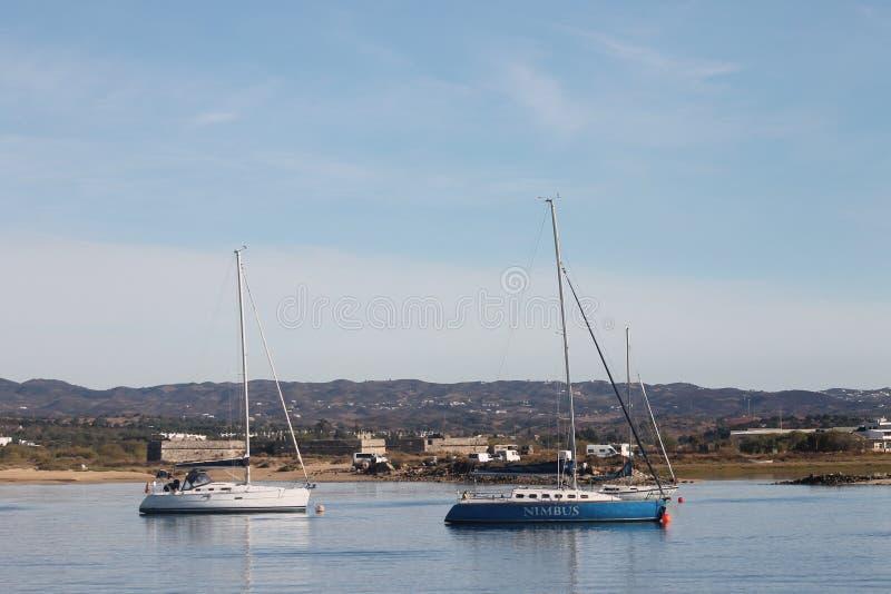 Boat, Island Tavira Portugal royalty free stock photography