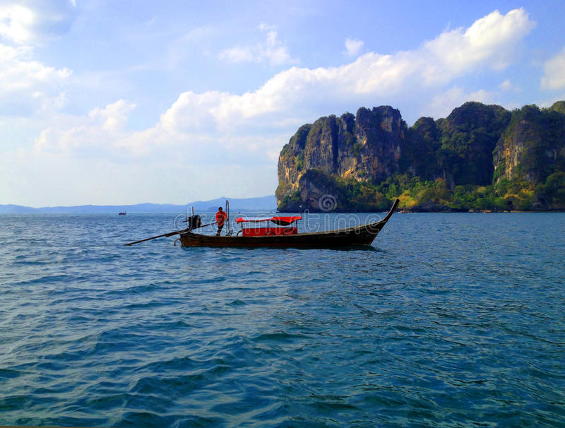 Boat Island Travel royalty free stock image