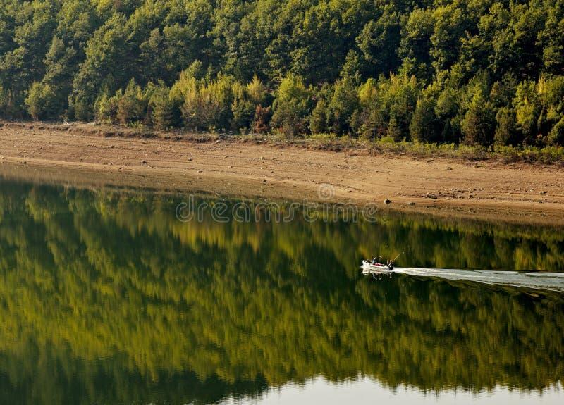 Boat in Kardzhali dam lake