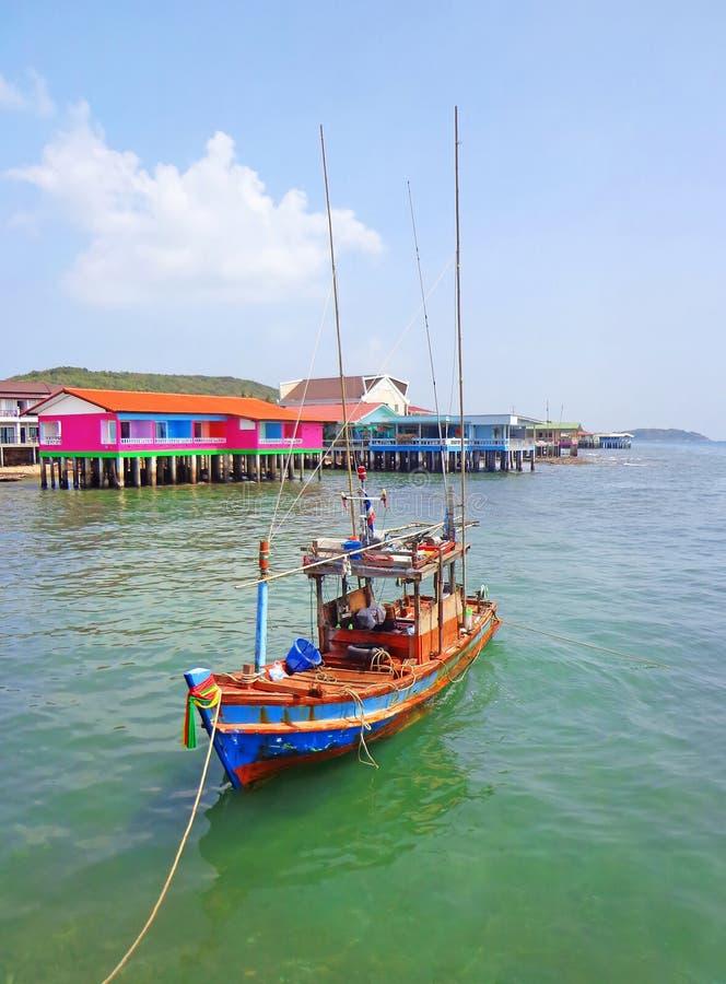 Boat in Koh Larn stock images