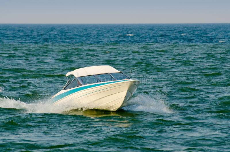 Download Boat on a lake stock photo. Image of motorboat, boat - 26619828