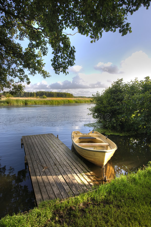 Download Boat and lake stock photo. Image of sail, tree, purity - 4330336