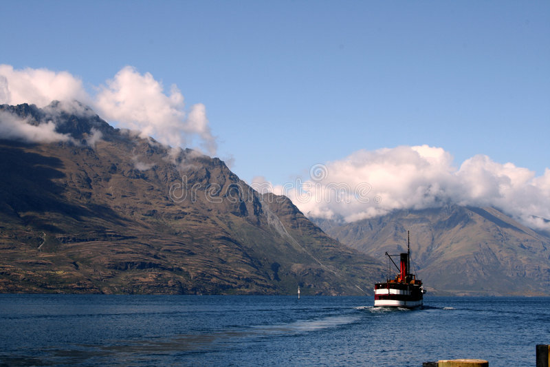 Boat on lake royalty free stock photos