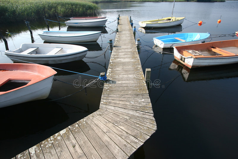 Boat on a lake royalty free stock photography